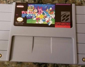 Tiny Toon Wild & Wacky Sports Custom English Super Nintendo SNES