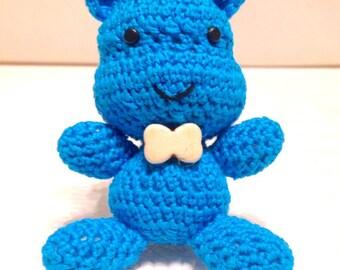 Handmade amigurumi Blue Hippo