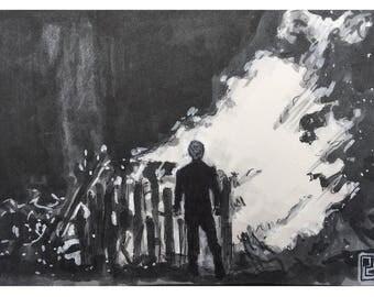 Skywalker Funeral Pyre print