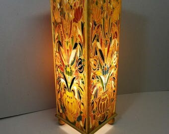 """LAMP of atmosphere INLAY """"BOUQUET"""" four faces"""