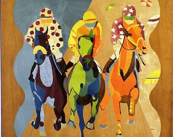 """MARQUETRY wall """"race"""" after one shows"""