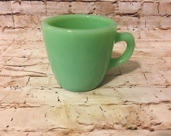 Vintage Fire King Fireking Jadeite jadite restaurant C handle coffee mugs
