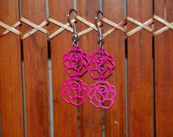 pretty and original pair of pink, pink earrings ^^