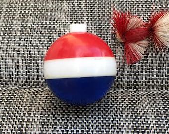 Medium sized Red White & Blue Vintage Fishing Bobber Float