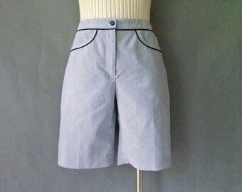 Vintage navy stripe high waist shorts women's size S/M