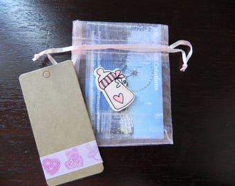 Blue baptism Kit for 14 bags, tags and embellishments bottles