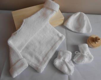 set baby white wool