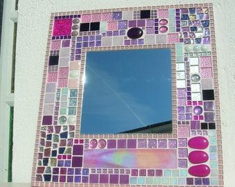 Pink mirror mosaic