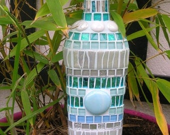 Mosaic bottle decor