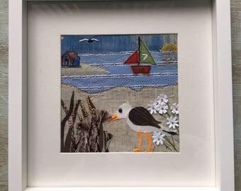 Seagull Appliqué Art Picture