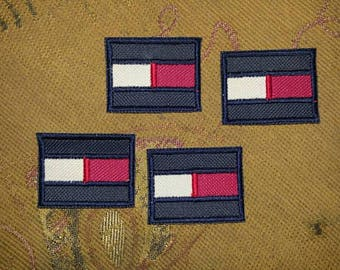 4pcs Tommy Hilfiger TH85 TH Brand Logo Embroider Embroidery Sew on Patch Patches Label for Cap T Shirt Bag diy Craft + Free Shipping