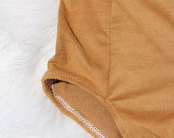 Caramel Faux Suede high waisted bloomies