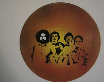 Grateful Dead Pop Art Spray Painted Vinyl Record Album Rock and Roll Music Jam Band Street Art Graffiti Style