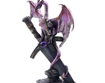 Midnight Dragon on Sword (31 cm/79 inch)