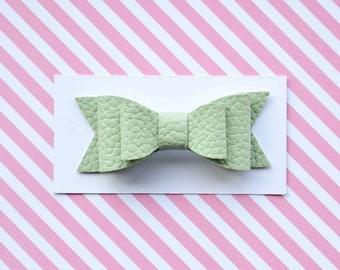 mint green hair bows, Mint green hair clip, infant hair clips, infant hair bows, infant headbands, baby bow headband, small bow hair clips