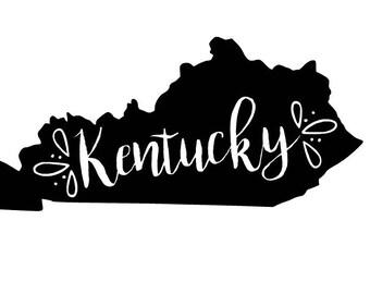 Kentucky SVG - Kentucky Cut File - Cursive - Handwritten - Script
