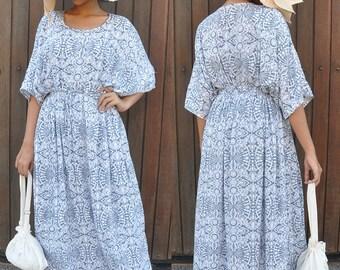 Kaftan, Caftan, Maxi Summer Dress, Maternity Dress, Breastfeeding Dress, Cover Up, Gift For Her, Resort Wear