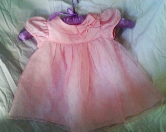 Vintage Pink Baby Dress 6-9 months