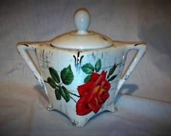 Retro Midwinter Rose Conserve Pot - Jam - Marmalade - Staffordshire