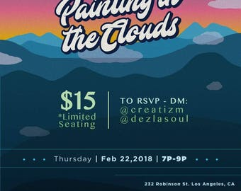 Painting in  the clouds TICKET
