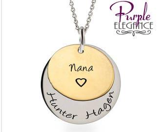 Nana Necklace , Grandmother's Necklace , Grandchildren Necklace , Personalized Necklace
