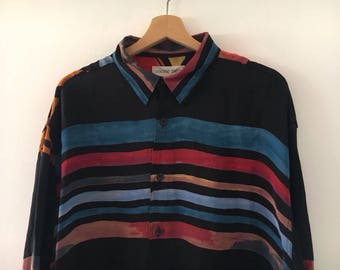 Vintage 90s Shirt Longsleeve Picasso Style Size XL