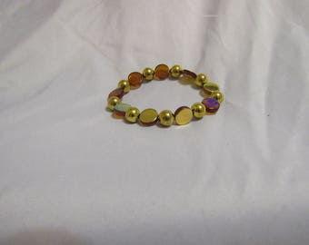 Bronze and Gold Beaded Bracelet
