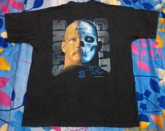 Vintage Stone Cold Steve Austin 90s WWF T-shirt