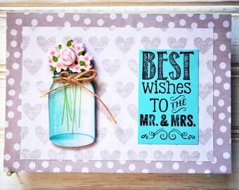 WEDDING Card - Handmade/Homemade Wedding/Wedding Shower Card