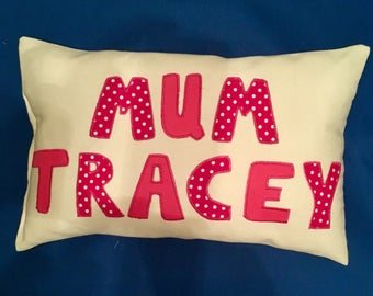 Personalised Mother gift, Mummy pillow, Mummy cushion, Mother gift, Mothers day gift, Mom gift, Mother cushion, mum gift, gift for mummy