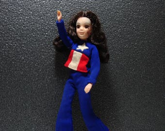 "1971 Hasbro The World of Love Doll ""Peace"" Groovy Incomplete Action Figure Doll"