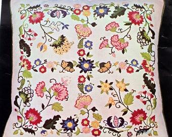 Smithsonian Institution FOUR PANE WINDOW Pillow Crewel Kit Jacobean Mazaltovs