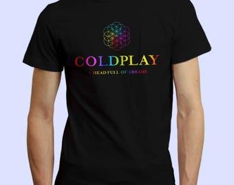 Coldplay Fan T Shirt, coldplay t shirt, music shirt, pop music, music fan t shirt, college t shirt, gift for rocker, rock music. graphic tee