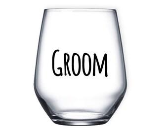 Groom tumbler, Personalised tumbler glass, bespoke tumbler glass, glassware, tumbler, gifts, groomsmen gifts