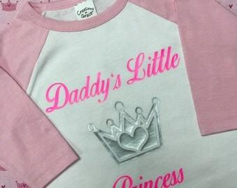 Daddys Little Princess Baseball Shirt