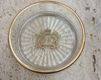 Vintage Glass Pin Dish Commemerating The Coronation Of Queen Elizabeth II-In Original Box