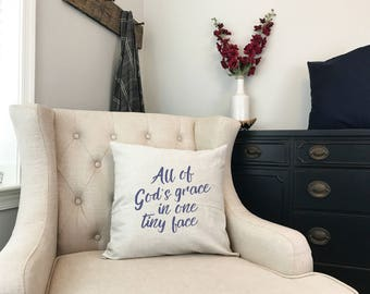 All of Gods Grace in One Tiny Face - Little Miracle Baby Gift - Worth the Wait - Christian Baby Shower Gift- Shower Christian Nursery Gift