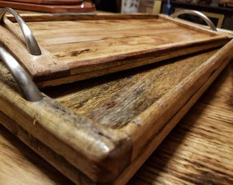 Wooden Serving Trays - set of 2