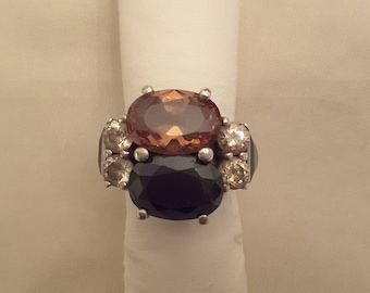 925 Silver ring with crystals