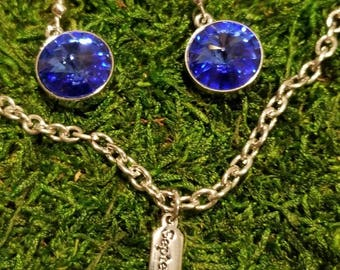 Sapphire-September BIRTHSTONE from Swarovski Crystal