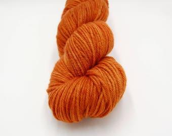 Merino Worsted Hand Dyed Yarn - Pumpkin