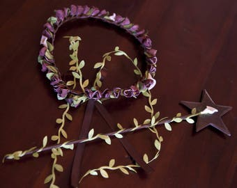 Flower Crown and wand