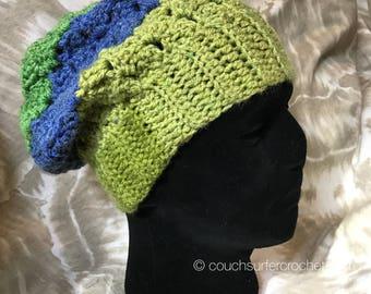 Crochet Slouchy Hat Pattern / Crochet Beanie Pattern / Slouch Hat Pattern