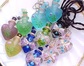 Essential Oil Bottle Necklace Glass Perfume Bottle Necklace Perfume Necklace Cremation Necklace Ash Urn Necklace Memorial Necklace for Ashes