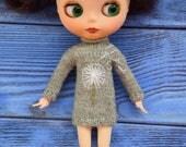 RESERVED Cashmere dress for Blythe  with dandelion