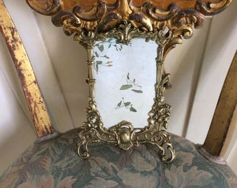Art Nouveau Solid Brass Picture Frame, Hanging, For Mirror or Picture