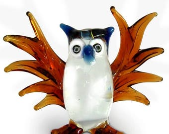 Fabulous glass figurine - OWL