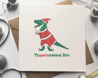 Dinosaur Christmas Card, Pun Christmas Card, Funny Christmas Card, Funny holiday card, Christmas card for teen, Dinosaur lover Christmas