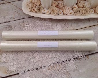 Set of 2 Rolls of Jeanne d'Arc Living Cream Organza Fabric