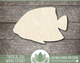 Wood Fish Shape, Unfinished Wood Fish Laser Cut Shape, DIY Craft Supply, Many Size Options